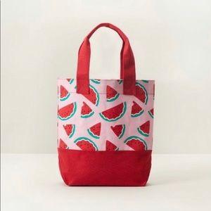 🆕 Indigo Red Pink Watermelon Canvas Tote NWT